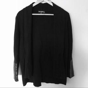 Karl Largerfeld Black Sweater Open Cardigan